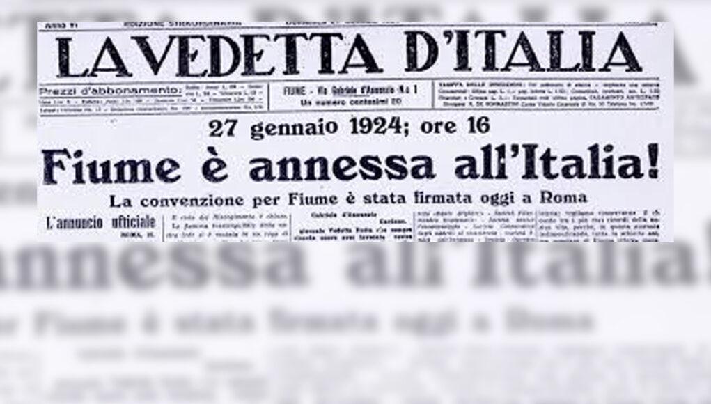 fiume italiana trattato di roma 27 gennaio