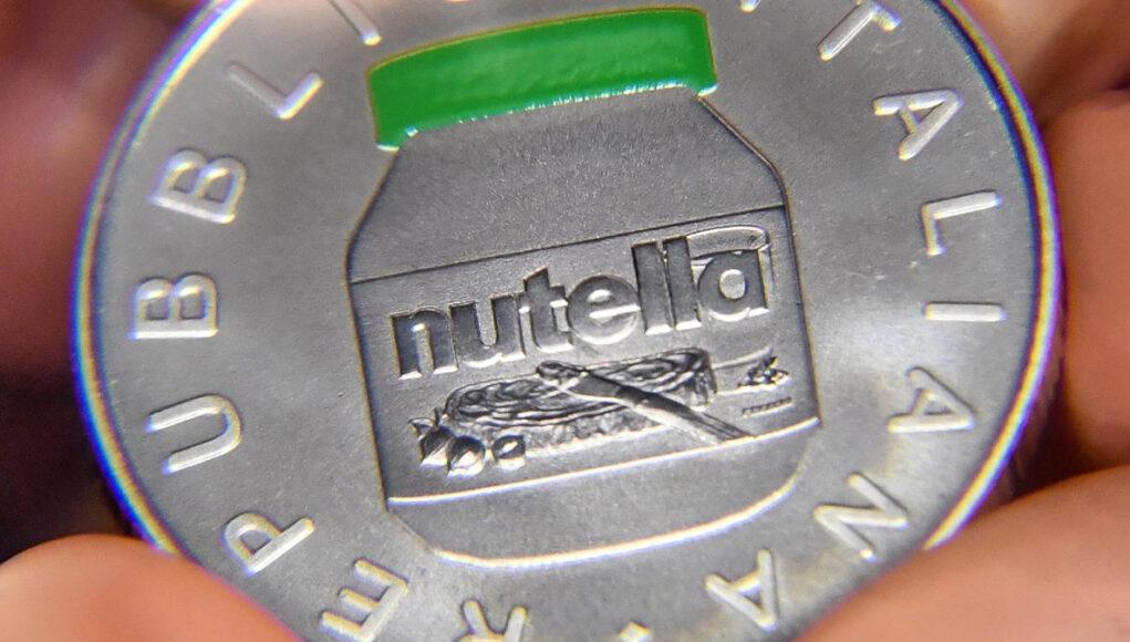 nutella argento 5 euro
