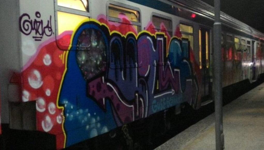 treno murales