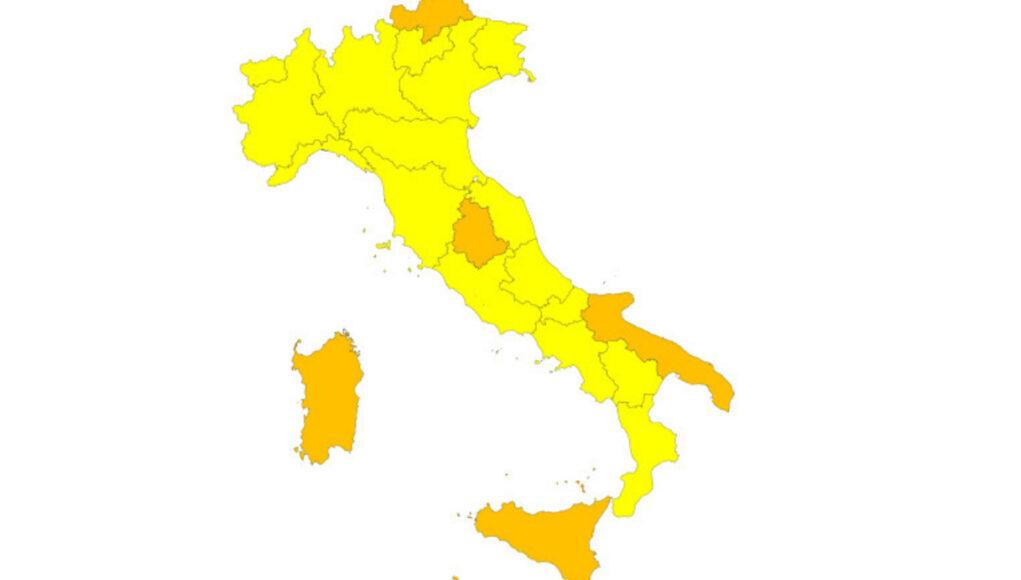 zona gialla piemonte