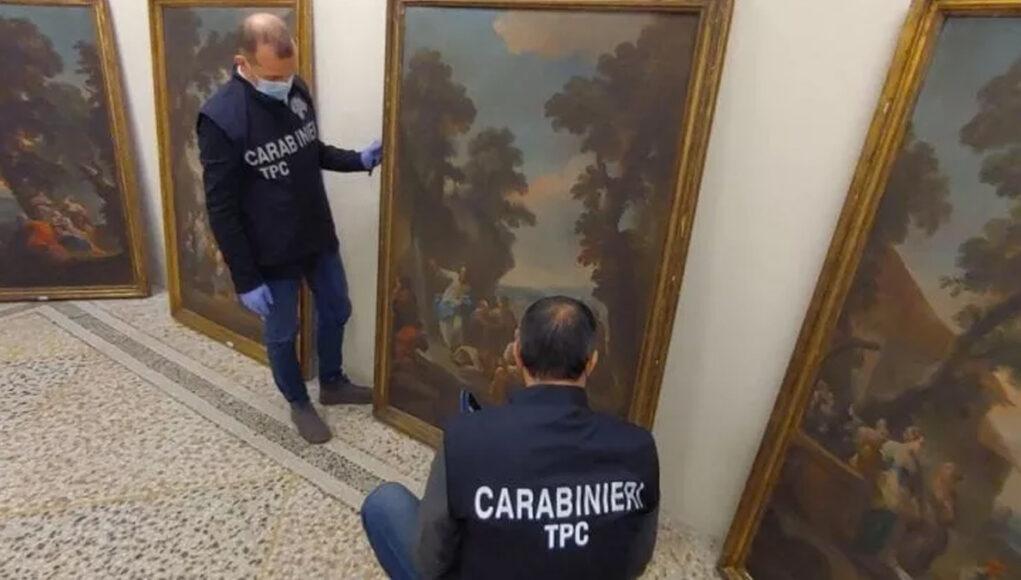 dipinti del 700 castello moretta