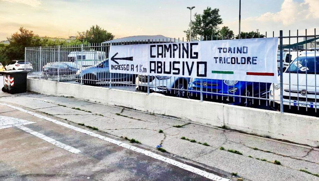 nomadi camping abusivo torino tricolore cimitero Parco via pancalieri