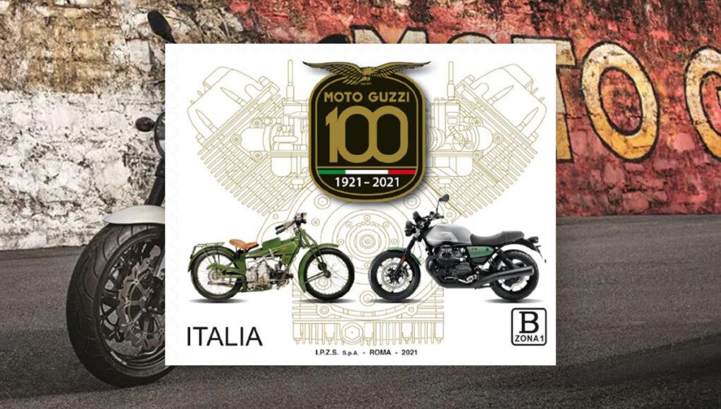francobollo centenario moto guzzi