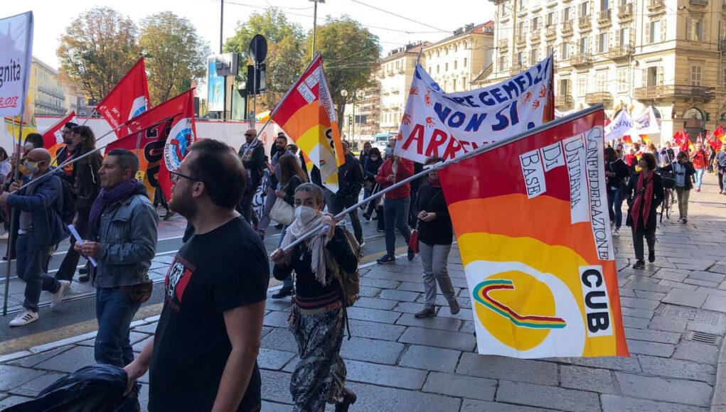 manifestazione torino usb sciopero generale